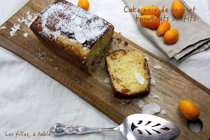 Cake noix de coco et kumquats confits