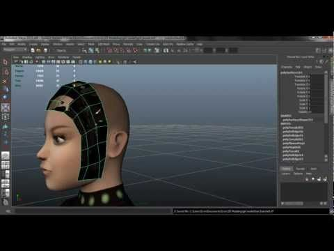 Autodesk Maya 2013 Tutorial - Hair with transparency maps - YouTube