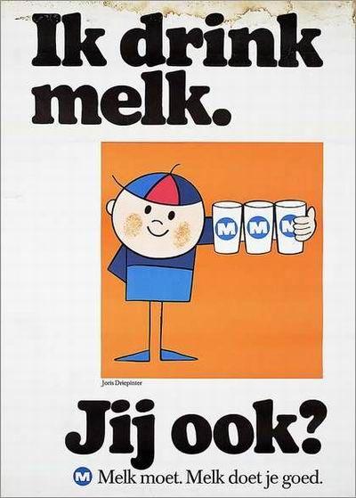 Joris Driepinter In de periode 1965 tot 1978 speelde Joris Driepinter de hoofdrol in een advertentiecampagne van de Nederlandse Zuivelorganisatie