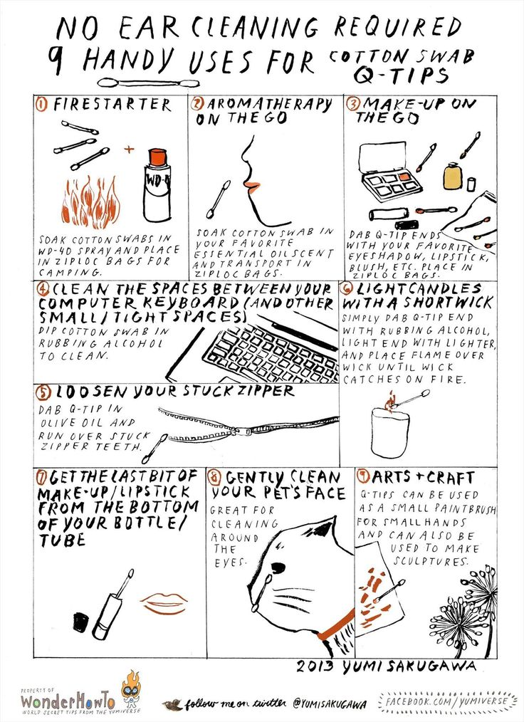 No Ear Cleaning Required: 9 Handy Uses for Cotton Swab Q-Tips « The Secret Yumiverse