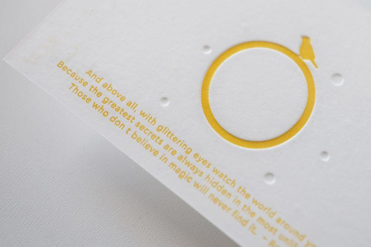 OLAF birth announcement letterpress card yellow by studio sijm