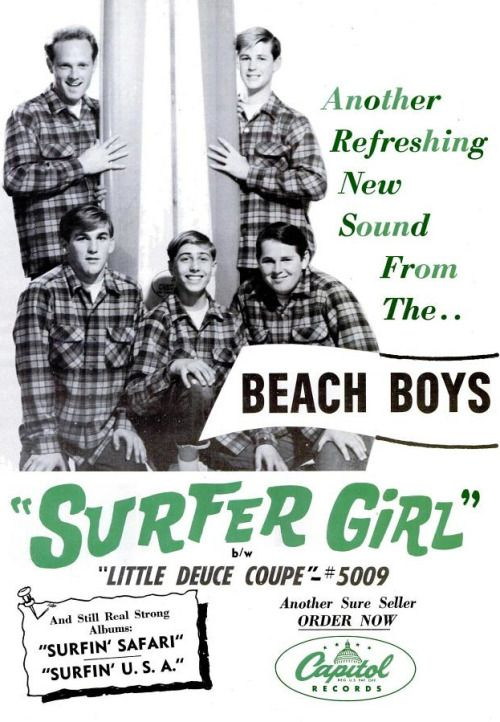 Capitol records ad for Beach Boys Surfer Girl
