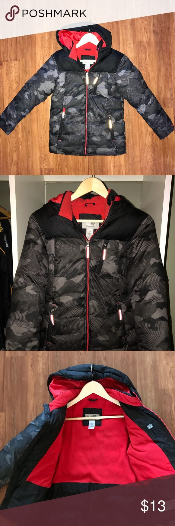 Boys winter coat Purchased at Target.  Excellent condition.  Worn a few times since my son refuses to wear a coat.  Very warm.  Fleece lined and hood is not removable.  Size Medium 8-10 Champion Jackets & Coats Puffers