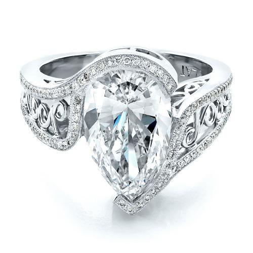 Superb Custom Diamond Engagement Ring