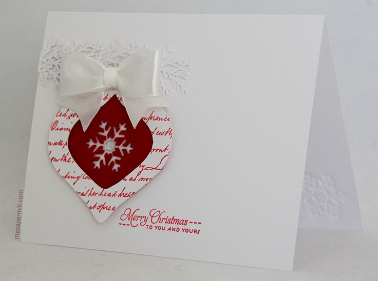 Clean and simple Christmas card.