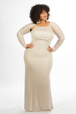 Ivory Paris Gown by Curvaceous Boutique on CurvyMarket.com Plus Size