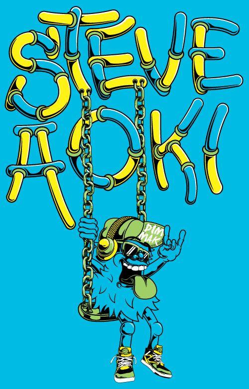 Steve Aoki // Dim Mak by Patrick Tuoti, via Behance