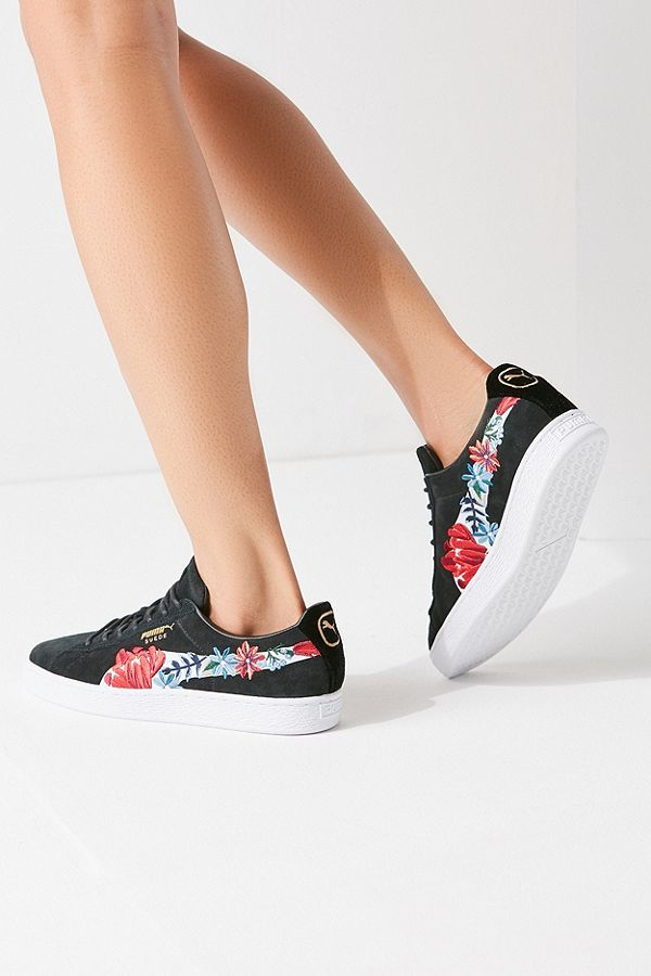 Puma Basket Heart Hyper Embroidered Sneaker | Clothes