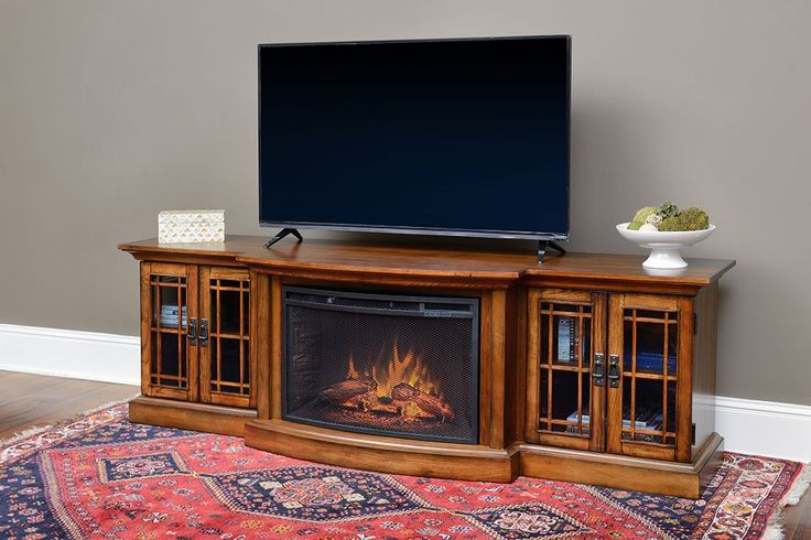 Graham Infrared Electric Fireplace Entertainment Center In Toast