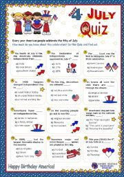 July 4th Trivia Questions and Answers