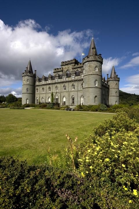 """Inveraray Castle, Argyll, Scotland. """"Inveraray Castle promises a gentle Reception and its interior cherishes every Hope"""", so wrote a visitor in 1789 as the present Castle building reached its completion. When in 1743 Archibald, Earl of Islay, succeeded to the title of 3rd Duke of Argyll he initiated one of the most imaginative rebuilding projects ever undertaken in the Highlands."""