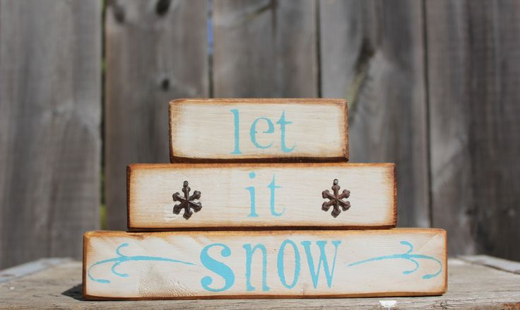 Let it Snow...block set by The Primitive Shed, St. Catharines