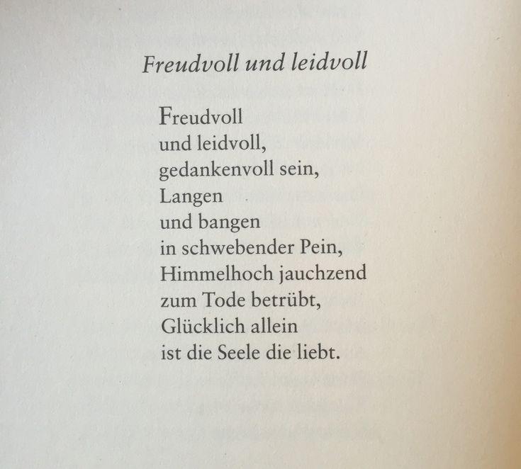 """gedichteausderwelt: """"""""Freudvoll und leidvoll"""" von Johann Wolfgang von Goethe """""""