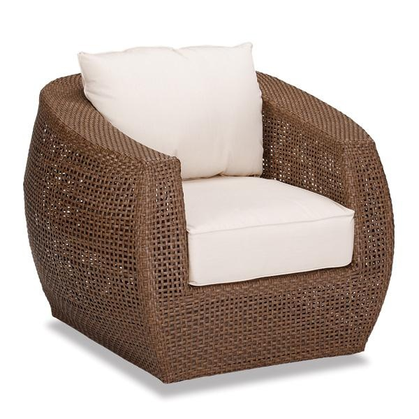 Outdoor Patio Wicker Club Chair W Cushions From Thos Baker