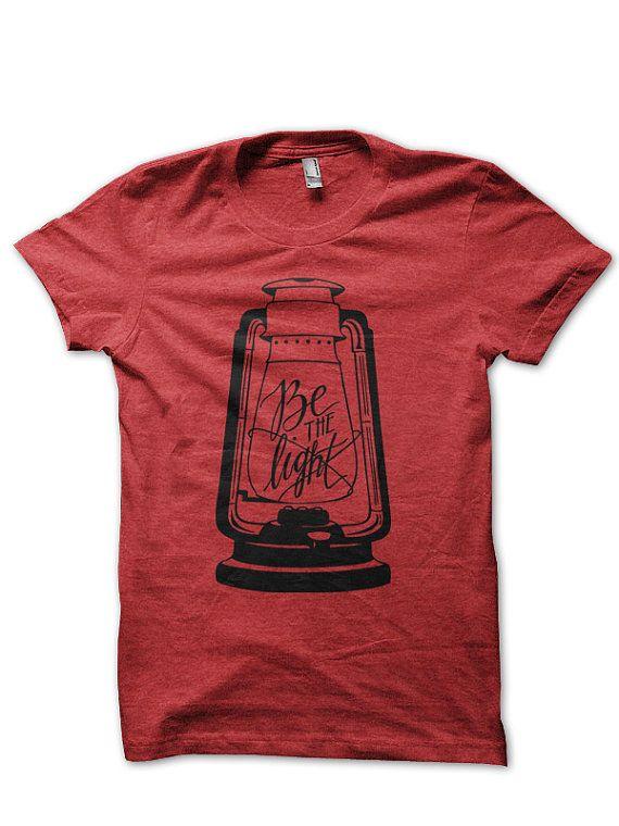 Be The Light Lantern Shirt // Red/Black // by ekuboministries, $22.00