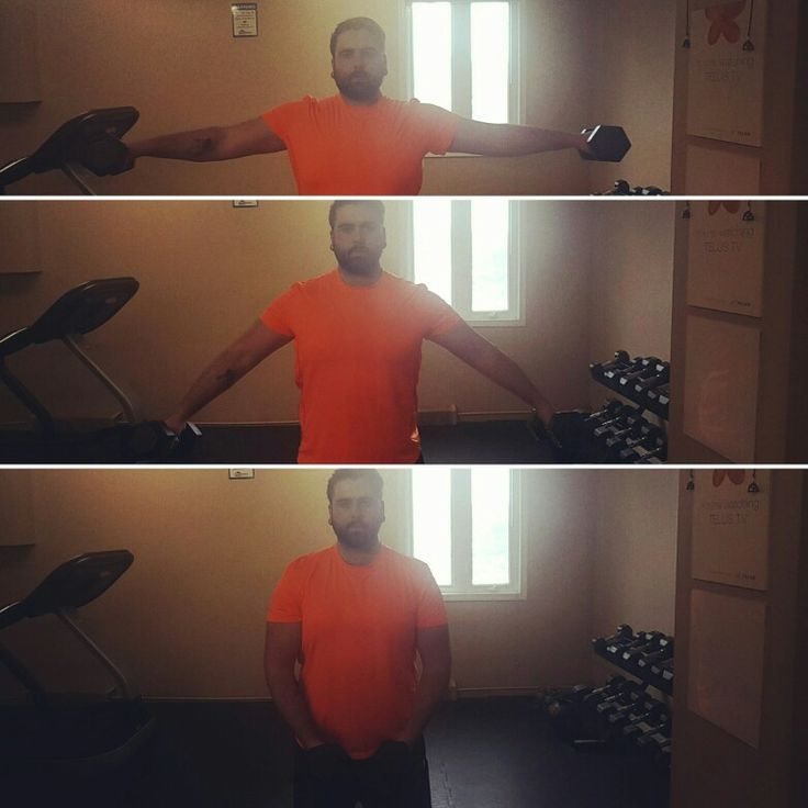 Hey Dynamite Body Team! Just finished a fantastic workout! Today i hit some of the smaller muscle groups that people dont always go for in the gym. Shoulders, Calves, and Forearms. The move I'm doing in the picture is called a Lateral Shoulder Raise. It hits nice and deep into your deltoid muscles so you can get those nice toned shoulders. (Bonus: the bigger your shoulders get, the thinner your waist looks!) Have a fantastic Monday team! #MotivationMonday #DYNAMITEBODY #GROUPFITNESS #YYC