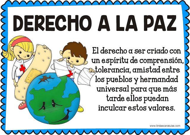 Lindas Caratulas Derechos Fundamentales Del Niño Y La Niña Imagenes De Los Derechos Deberes De Los Niños Derechos De Los Niños