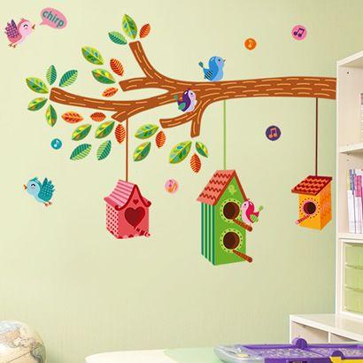 Cartoon Bird Children Bedroom Wallpaper 60*90CM $9.80