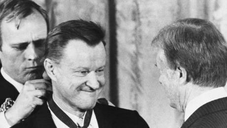 Zbigniew Brzezinski, who helped topple economic barriers between the Soviet Union, China and the West as President Jimmy Carter's national security advisor, died Friday. He was 89.