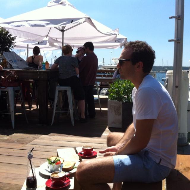 Elizabeth Bay Marina. Bird and Bear Cafe
