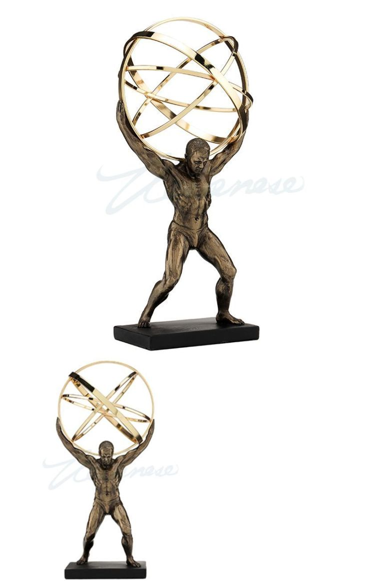 Figurines 36025: Atlas Carrying The Celestial Spheres Statue Greek Titan Sculpture Figure -> BUY IT NOW ONLY: $49.5 on eBay!
