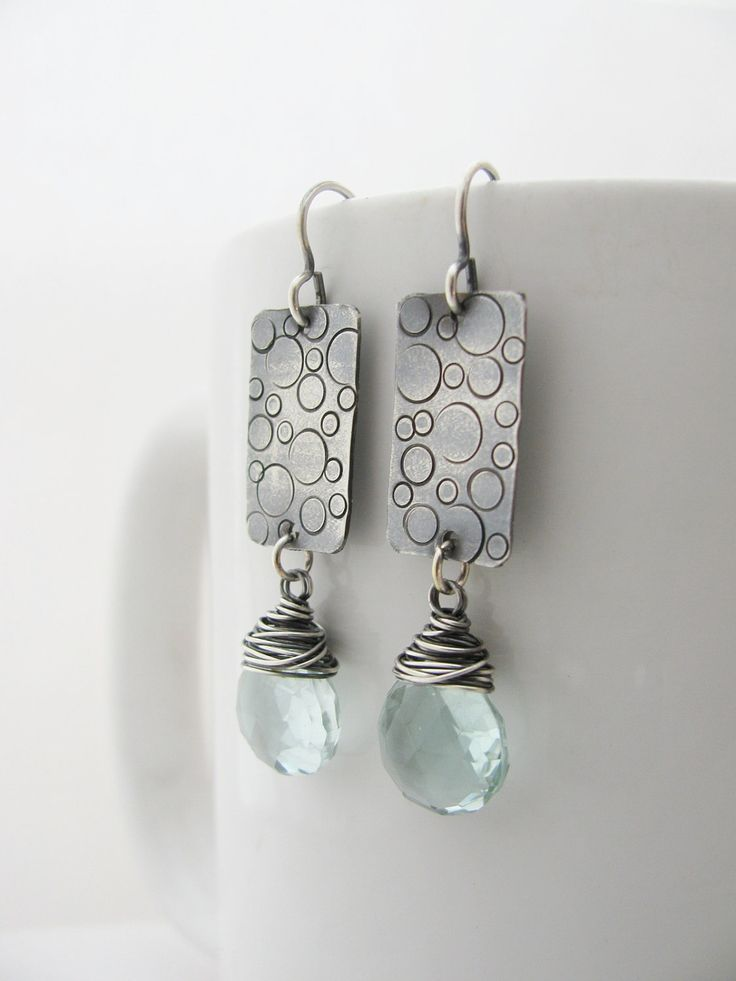 Bubble Stamped Earrings. Very sweet! By GeishaCreations