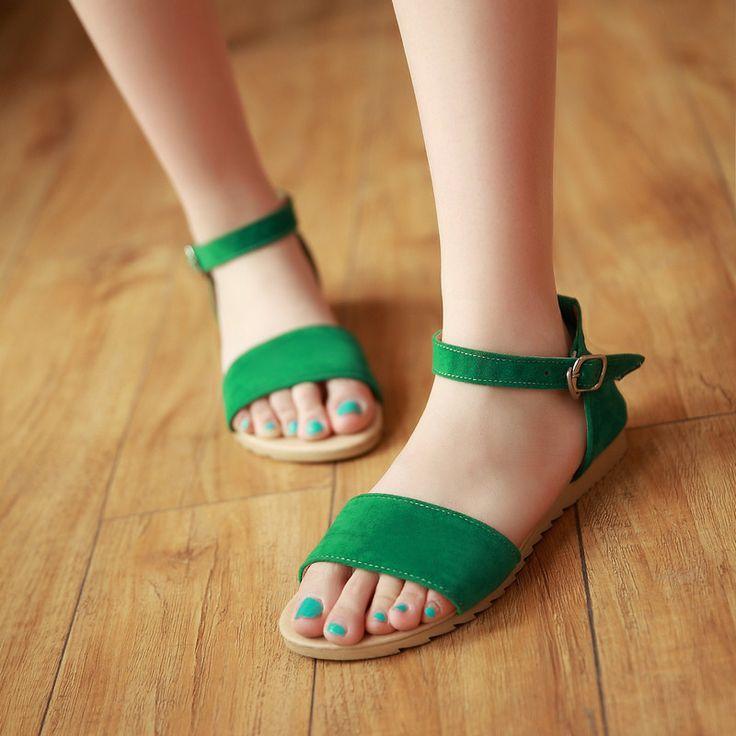 Fashion Flats Sandals Ankle Straps Women Shoes 7651