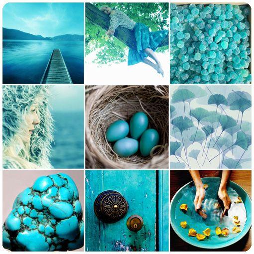 Сине-зелёный или бирюзовый - цвет чистоты
