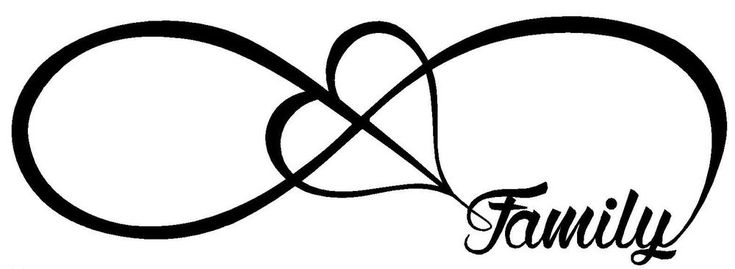 FAMILY LOVE HEART INFINITY FOREVER SYMBOL VINYL DECAL CAR WINDOW BUMPER STICKER #Oracal