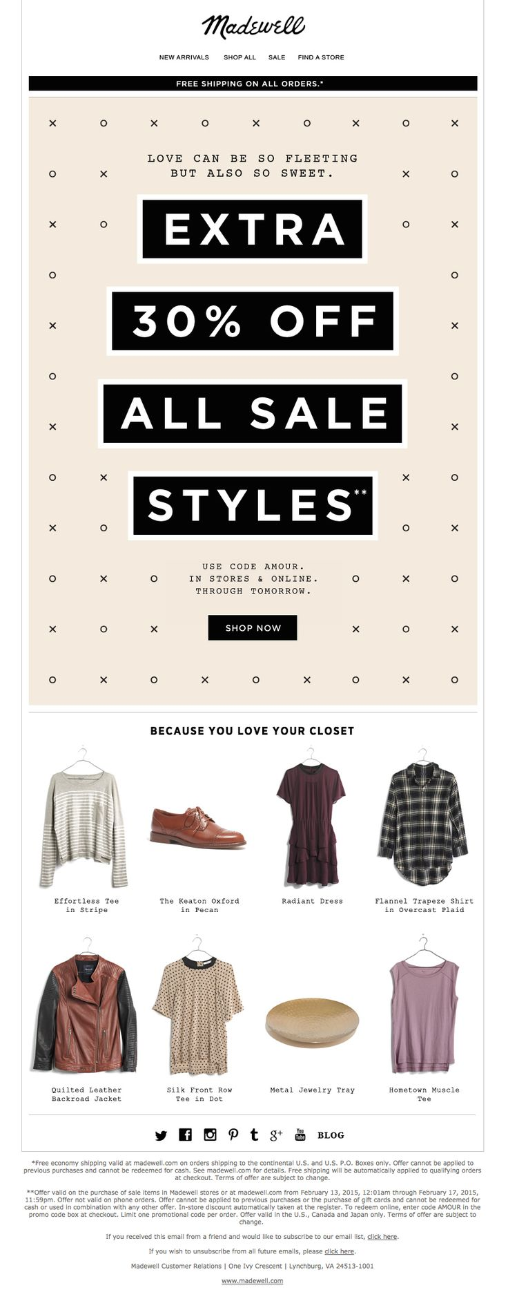 Madewell - emails