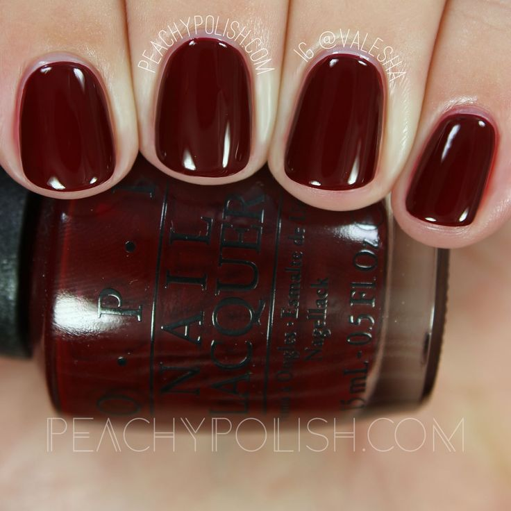 Best 25+ Opi red ideas on Pinterest | Red summer nails, Opi dark ...