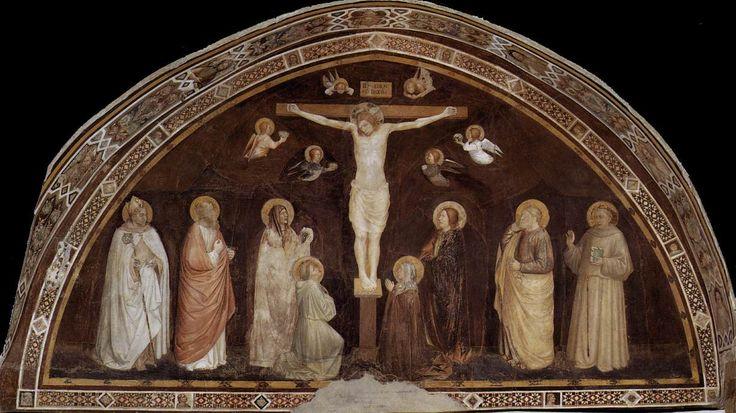 La Crocifissione di Puccio Capanna, Sala capitolare Assisi