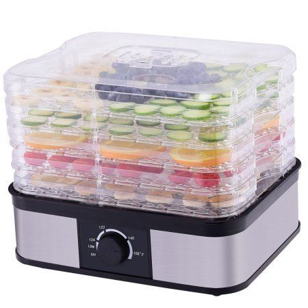 Goplus 5 Tray Food Dehydrator Food Preserver Fruit Vegetable Dryer Temperature Control