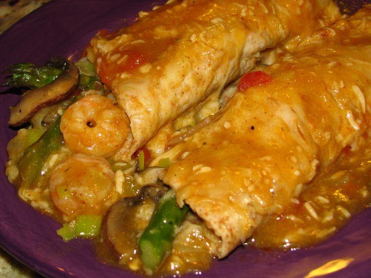 Spring Shrimp Enchiladas | Mexican/ Tex Mex/Comida Espanola | Pintere ...