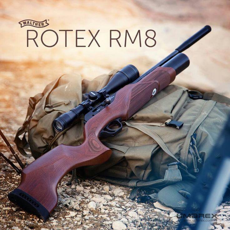 Wiatrówka karabinek Walther ROTEX RM8 Reagowanie na potrzeby rynku to jedna z największych zalet koncernu Umarex-Walther. Sygnały od klientów to zawsze niezwykle istotny element układanki, której końcowym efektem jest doskonały produkt spełniający oczekiwania rynku. Tak jest i tym razem, bowiem w 2014 roku swoją premierę rynkową ma karabinek PCP Walther Rotex RM8.