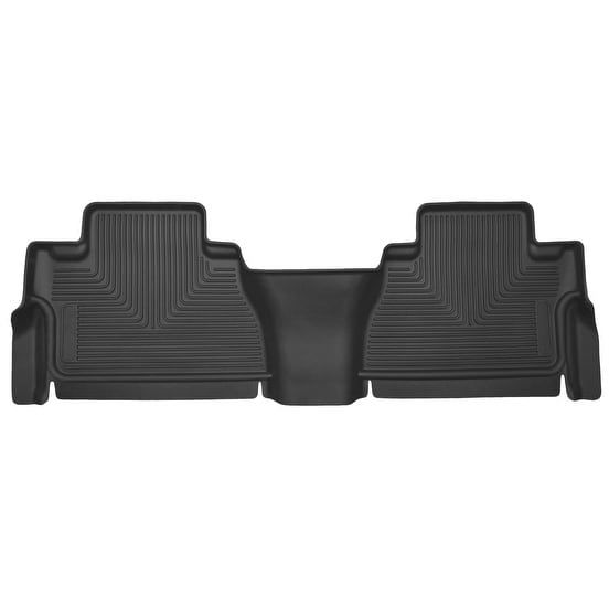 Husky X-act Contour 2007-2013 Toyota Tundra CrewMax Cab 2nd Row Black Rear Floor Mats/Liners