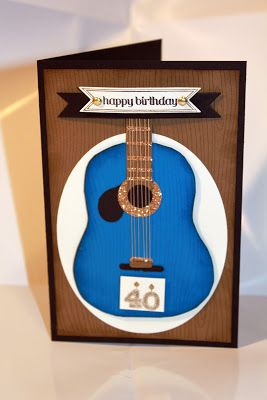 1/20/2015  Tried to find out how guitar was made, but after a couple of pages of older posts, was unable to do so. Later, try again. Guitar card Stampin' Up! Bitty Banners