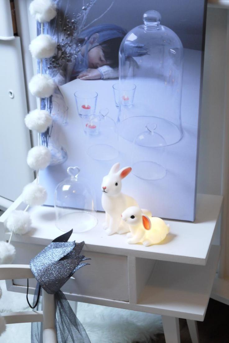 Night lights nursery - Rabbit Night Lights And Princess Crown At Www Lepingouindelespace Com