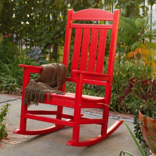 polywood recycled plastic presidential rocking chair outdoor rocking ...