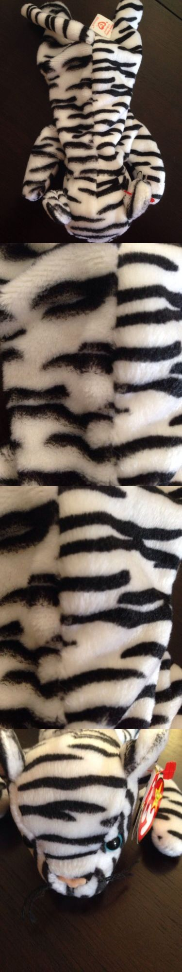 Current 1628: Ty Beanie Buddy Baby White Tiger (Blizzard) Mismatched Fabric Stripes -> BUY IT NOW ONLY: $79.99 on eBay!