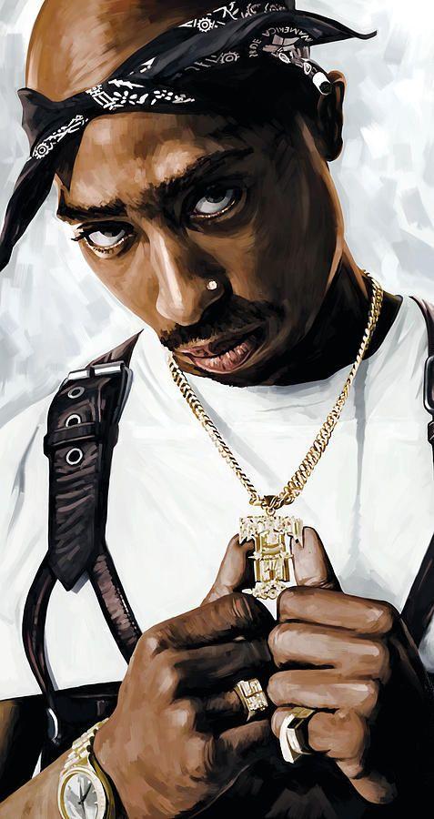 2pac Tupac Shakur Artwork Painting by Sheraz A