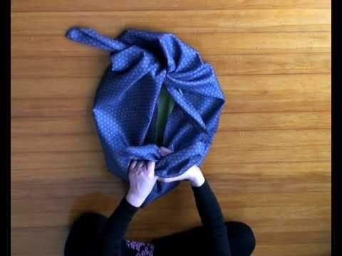 Furoshiki 1 Basic knot & Wrapping - YouTube