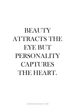 Beauty VS personality