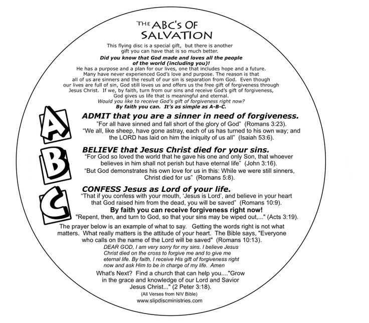 ABC Salvation Flying Disk | Children's Ministry | Pinterest