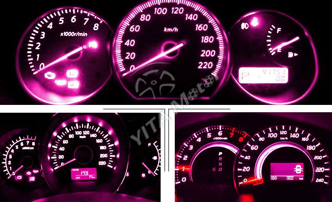10x Purple Pink T5 3 SMD LED Bulbs Dashboard Gauge Side Door Light 74 2721 17 18 | eBay