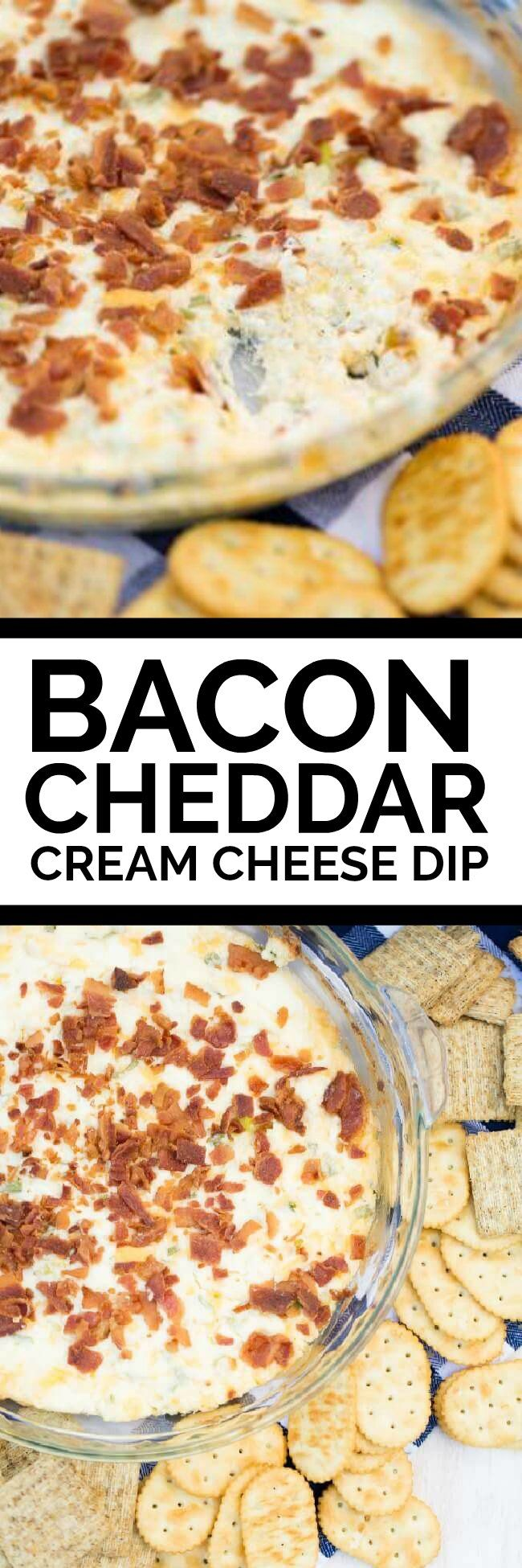 Bacon Cheddar Cream Cheese Dip Recipe