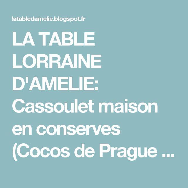 LA TABLE LORRAINE D'AMELIE: Cassoulet maison en conserves (Cocos de Prague frais, coulis frais de tomates, charcuterie fumée vosgienne)