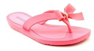 GUESS Tutu Women Open Toe Synthetic Pink Flip Flop Sandal.