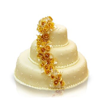 Karamell apró virágos torta