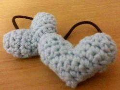 ハートモチーフのヘアゴム♪の作り方 編み物 編み物・手芸・ソーイング ハンドメイドカテゴリ ハンドメイド、手作り作品の作り方ならアトリエ